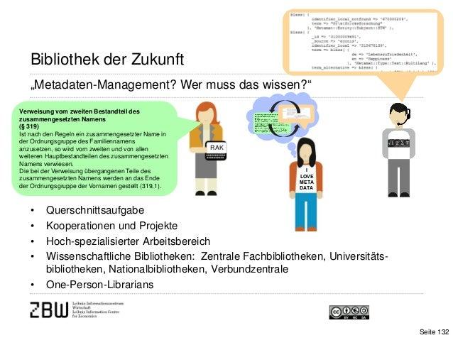 ILOVEMETADATA• Querschnittsaufgabe• Kooperationen und Projekte• Hoch-spezialisierter Arbeitsbereich• Wissenschaftliche Bib...