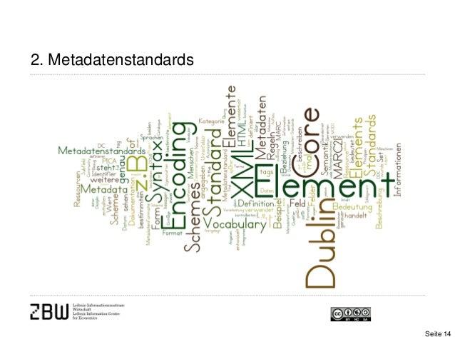 2. MetadatenstandardsSeite 14