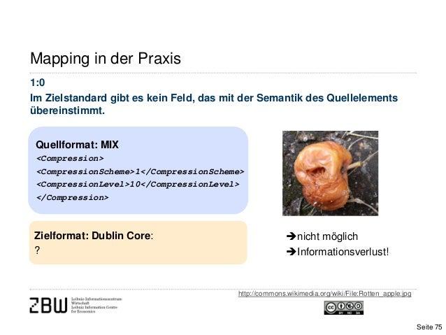 Mapping in der PraxisQuellformat: MIX<Compression><CompressionScheme>1</CompressionScheme><CompressionLevel>10</Compressio...