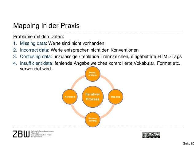 Mapping in der PraxisProbleme mit den Daten:1. Missing data: Werte sind nicht vorhanden2. Incorrect data: Werte entspreche...