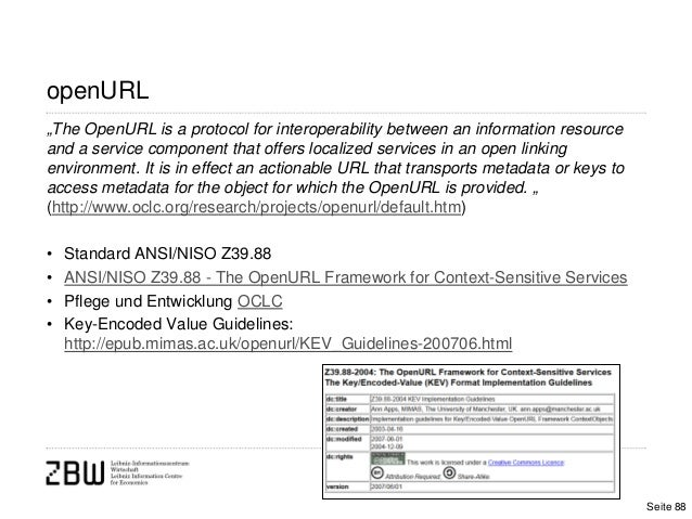 """openURL""""The OpenURL is a protocol for interoperability between an information resourceand a service component that offers ..."""