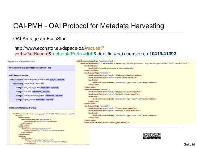 OAI-PMH - OAI Protocol for Metadata HarvestingOAI-Anfrage an EconStorhttp://www.econstor.eu/dspace-oai/request?verb=GetRec...