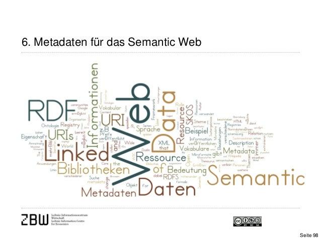 6. Metadaten für das Semantic WebSeite 98