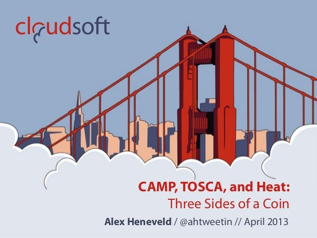 CAMP, TOSCA, and Heat:          Three Sides of a CoinAlex Heneveld / @ahtweetin // April 2013