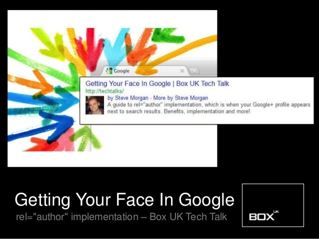 """Getting Your Face In Googlerel=""""author"""" implementation – Box UK Tech Talk"""