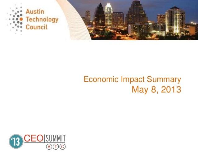 Economic Impact SummaryMay 8, 2013