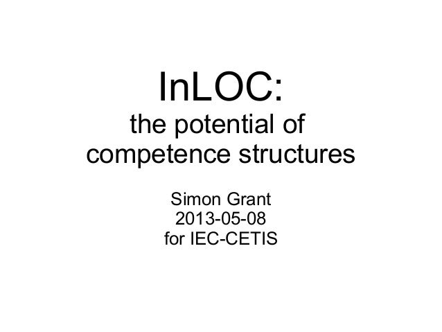 InLOC:the potential ofcompetence structuresSimon Grant2013-05-08for IEC-CETIS