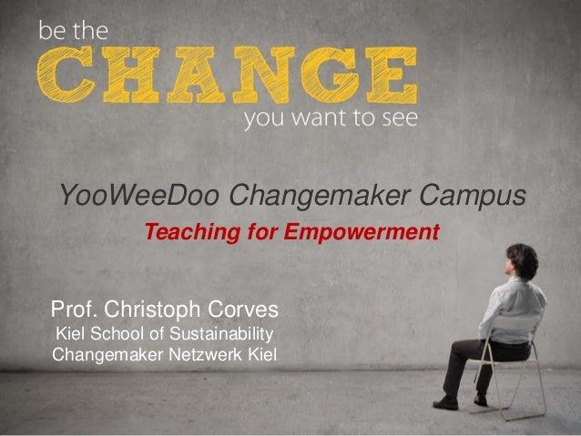 C A U – S c h o o l o f S u s t a i n a b i l i t yProf. Christoph CorvesKiel School of SustainabilityChangemaker Netzwerk...