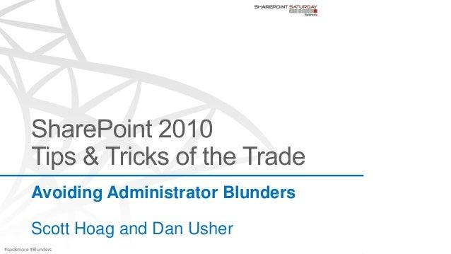 #spsBmore #BlundersAvoiding Administrator BlundersScott Hoag and Dan Usher
