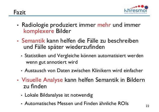 Semantik Und Bilddaten Wie Terminologien In Der Radiologie Helfen