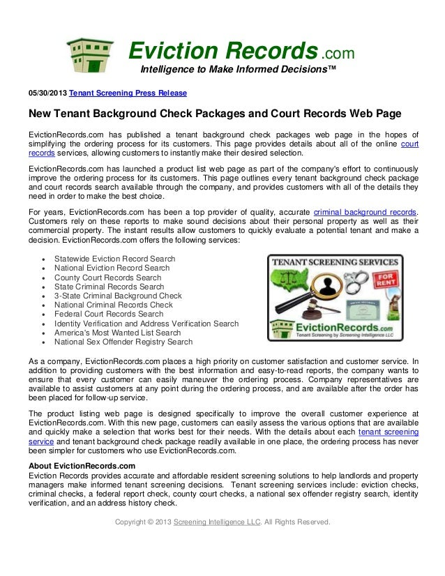 New Tenant Background Check Packages And Court Records Web