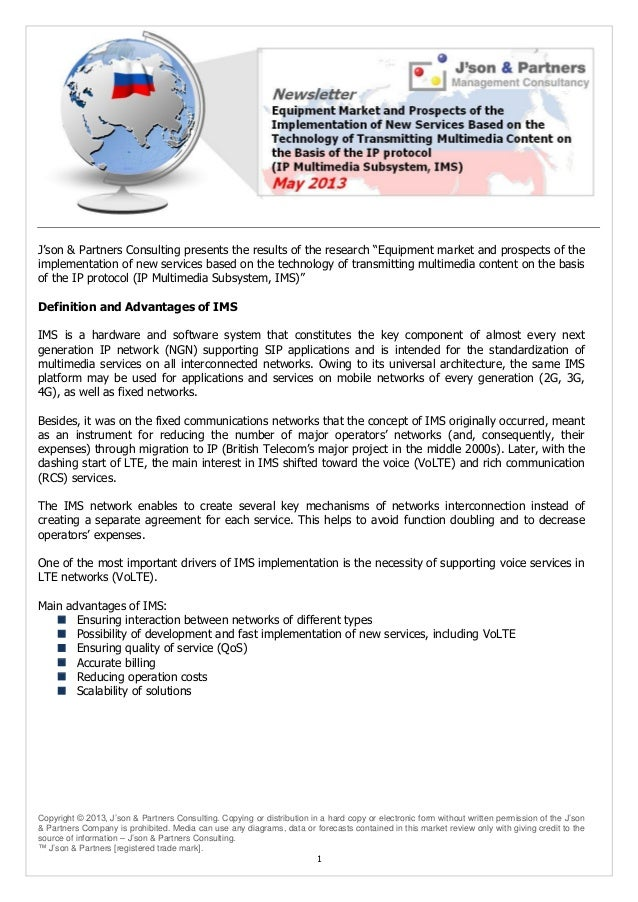 Copyright © 2013, J'son & Partners Consulting. Copying or distribution in a hard copy or electronic form without written p...