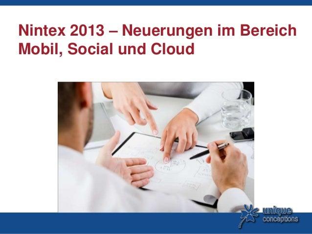 Nintex 2013 – Neuerungen im BereichMobil, Social und Cloud