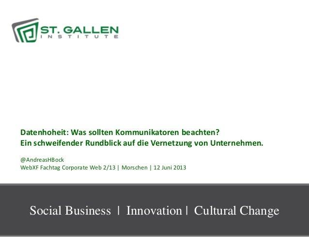 1Datenhoheit: Was sollten Kommunikatoren beachten?Ein schweifender Rundblick auf die Vernetzung von Unternehmen.@AndreasHB...