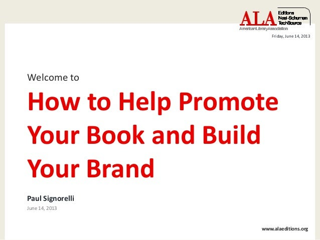 how to promote your book and build your brand