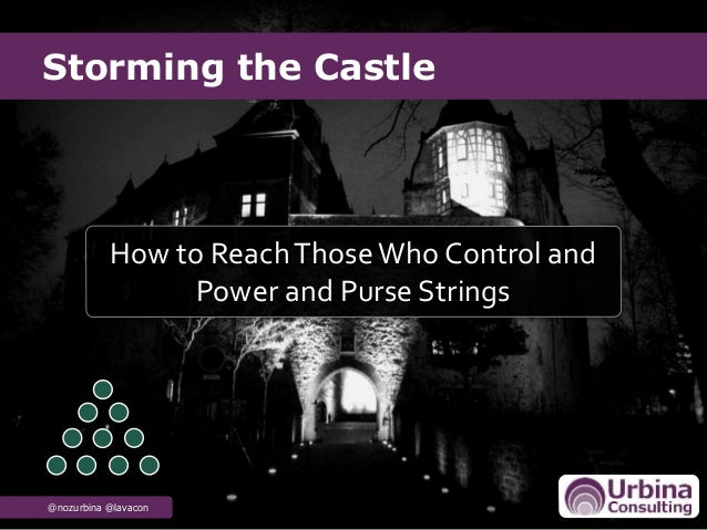 Storming the Castle @nozurbina @lavacon How to ReachThoseWho Control and Power and Purse Strings