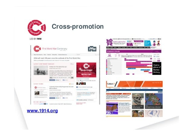 www.1914.org Cross-promotion