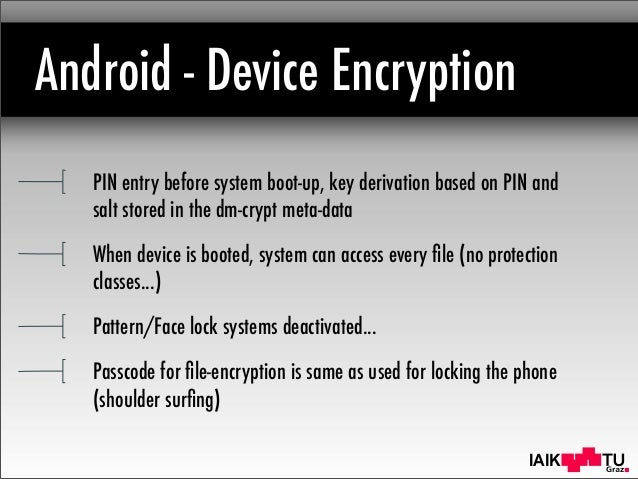 Mobile Device Encryption Systems