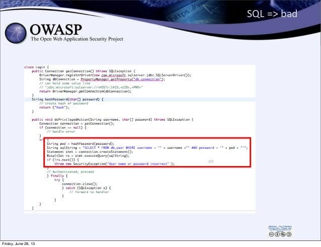 SQL  =>  bad 125 Friday, June 28, 13