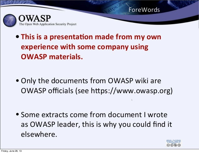 ForeWords • This  is  a  presenta,on  made  from  my  own   experience  with  some  company  using...