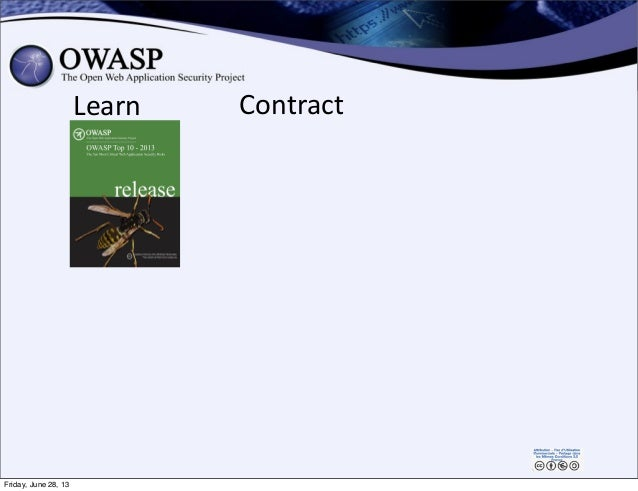 Learn Contract Friday, June 28, 13