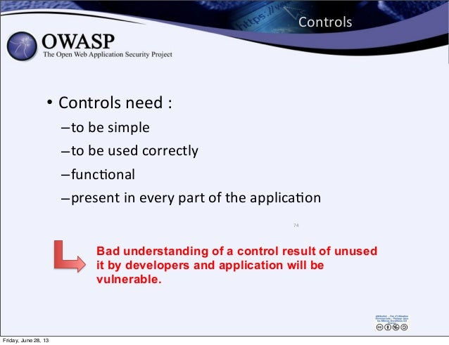 Controls • Controls  need  : –to  be  simple –to  be  used  correctly –funcPonal –present  in  every  ...