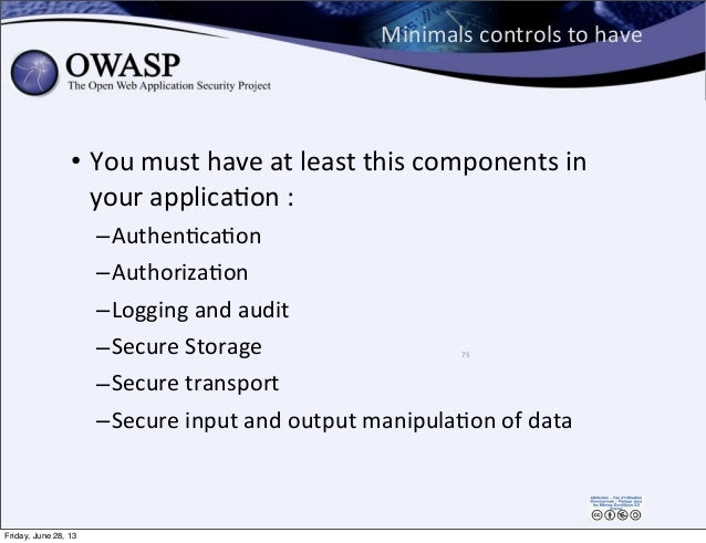 Minimals  controls  to  have • You  must  have  at  least  this  components  in   your  applicaPon...