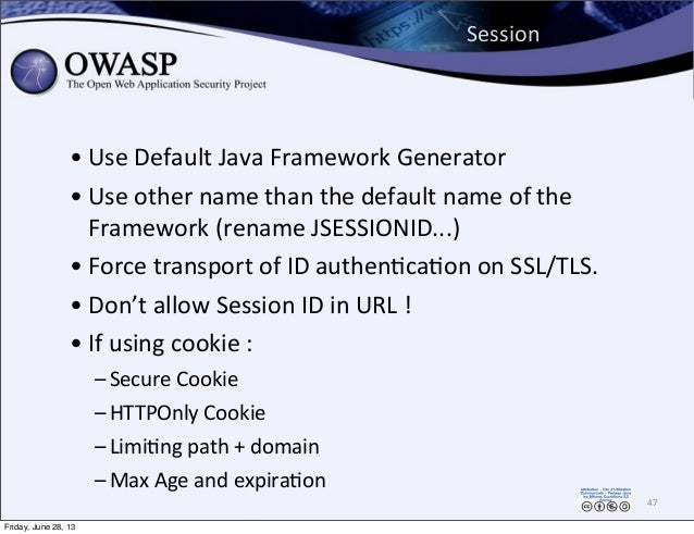 Session   • Use  Default  Java  Framework  Generator • Use  other  name  than  the  default  name  ...