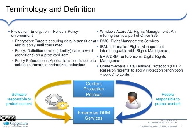 Use aadrm right management services with office 365 - Rights management services office 365 ...