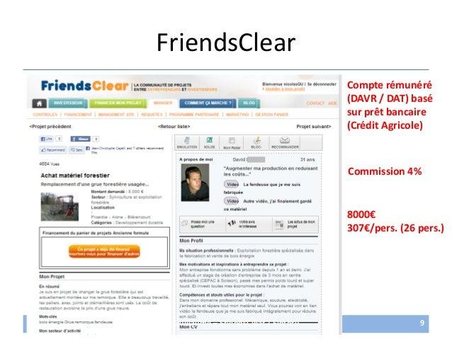 FriendsClear26/06/2013 nicolas.max.guillaume@gmail.com 98000€307€/pers. (26 pers.)Compte rémunéré(DAVR / DAT) basésur prêt...