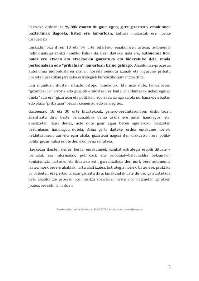 Emakume helduen ahalduntze prozesuak Euskal Autonomia Erkidegoan Slide 3