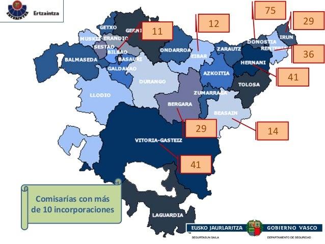 41 75 29 41 36 29 11 12 14 Comisaríasconmás de10incorporaciones