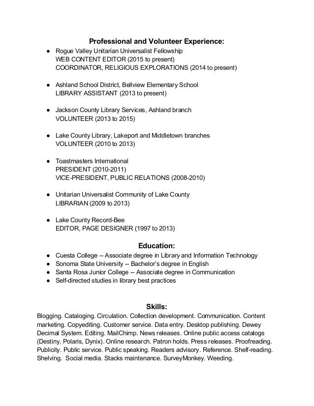 how to put church volunteer work on resume volunteer resume