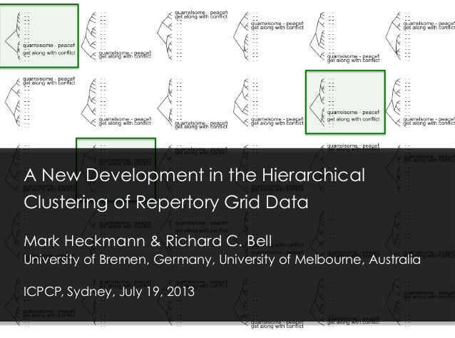 A New Development in the Hierarchical Clustering of Repertory Grid Data Mark Heckmann & Richard C. Bell University of Brem...
