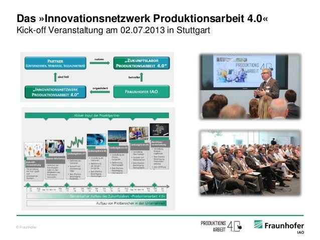 © Fraunhofer Das »Innovationsnetzwerk Produktionsarbeit 4.0« Kick-off Veranstaltung am 02.07.2013 in Stuttgart