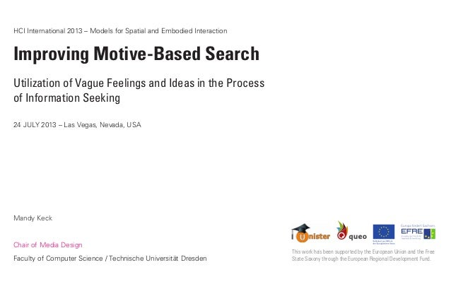 HCI International 2013 – Models for Spatial and Embodied Interaction Improving Motive-Based Search Utilization of Vague Fe...