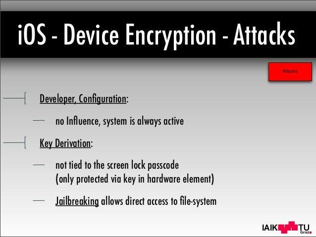 Ios device encryption