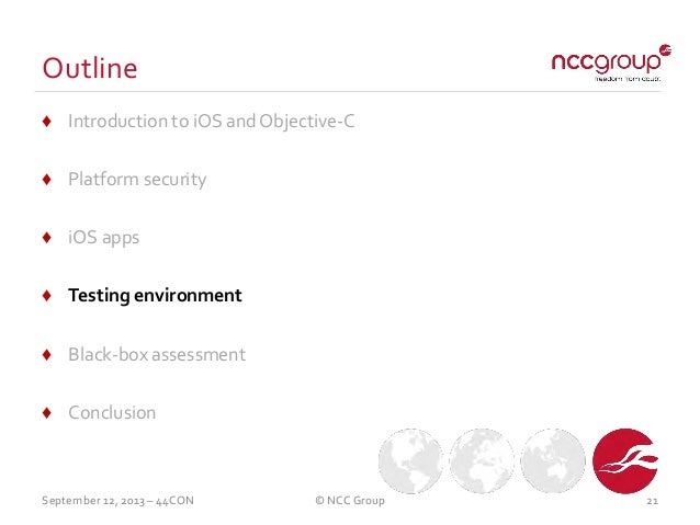 NCC Group 44Con Workshop: How to assess and secure ios apps