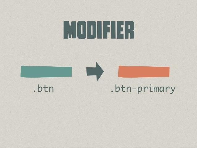 /* # Module */ /* ## Button */ .btn { ... } .btn_primary { ... } .btn_small { ... } /* ## Widget */ .widget { ... } .widge...