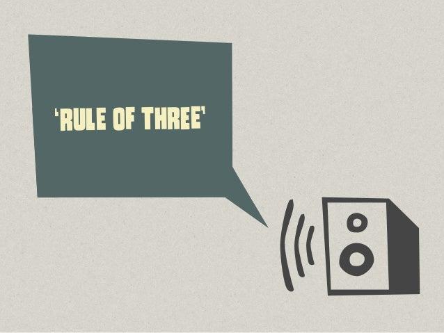 ®©°, 'RUlE Of ThReE' 3, 6, 9, 12, 15