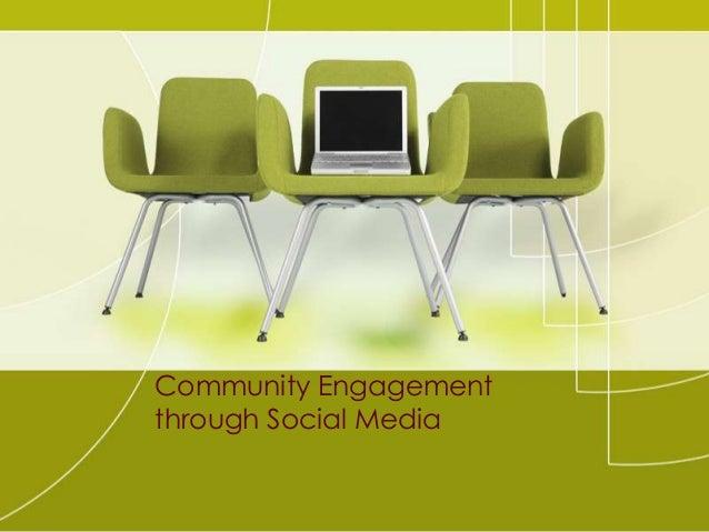 Community Engagement through Social Media