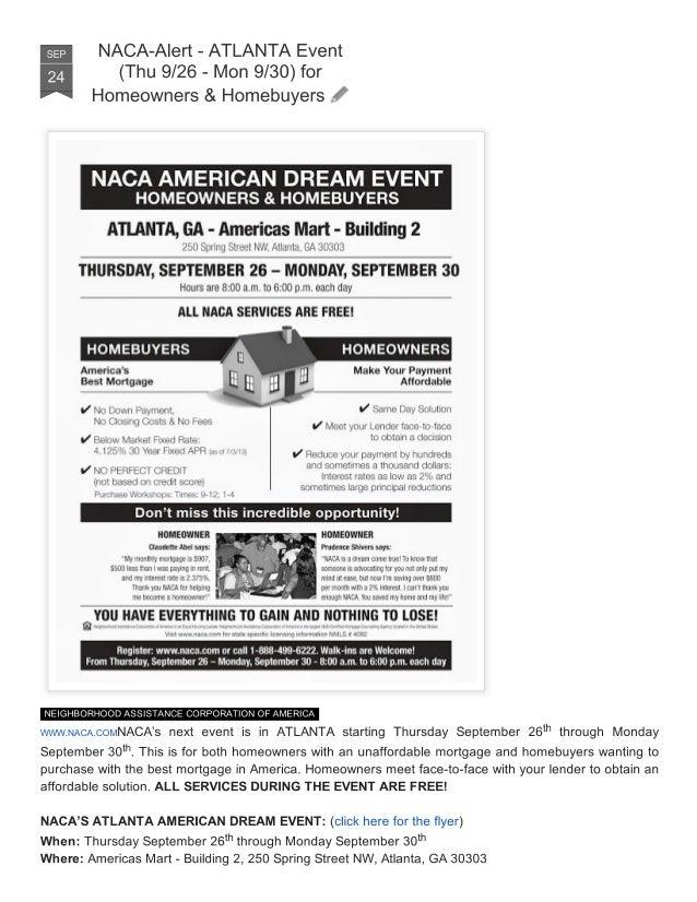 NACA Alert - Atlanta Event