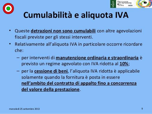 ... 9. Cumulabilità E Aliquota IVA ...