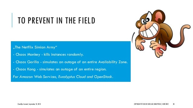 """TO PREVENT IN THE FIELD CloudOps Summit, September 25, 2013 COPYRIGHT © 2013 BY NEW AGE DISRUPTION   RENÉ BÜST 20 """"The Net..."""