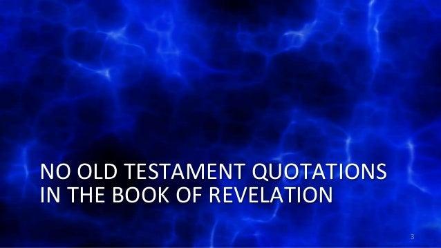 2013 09-29 rv03 the old testament background of revelation Slide 3