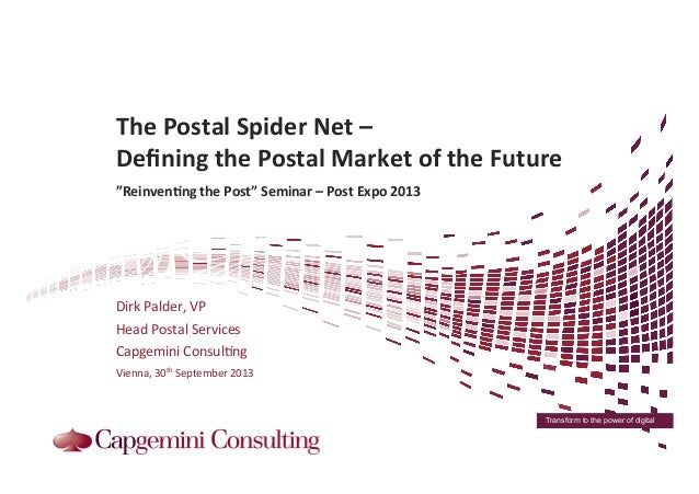 Transform to the power of digital 	    	   	   	    The	   Postal	   Spider	   Net	   –	   	    Defining	   the	   Postal	 ...