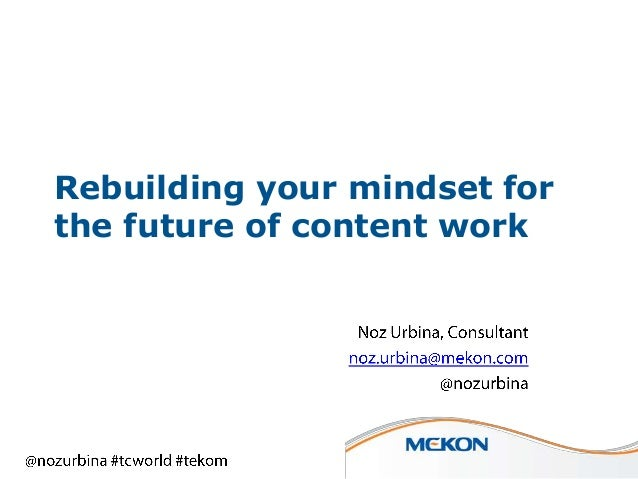 Rebuilding your mindset for the future of content work