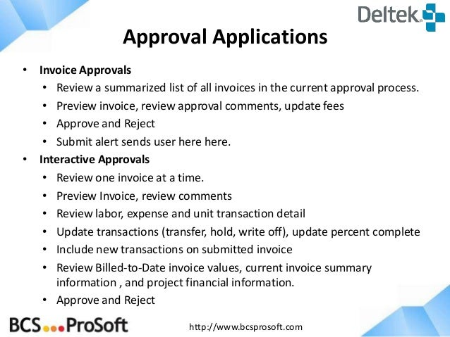 Whats New In Deltek Vision Invoice Approvals Overhead Allocati - Whats an invoice