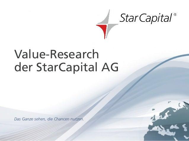 Seite 1www.starcapital.de September 2013 Value-Research der StarCapital AG Das Ganze sehen, die Chancen nutzen.