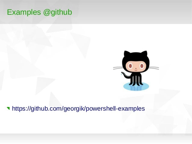 PowerShell from *nix user perspective Slide 2